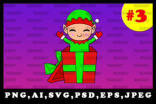 Print on Demand: Cute Christmas Elf Sublimation Clipart 3 Graphic Illustrations By zerobbat