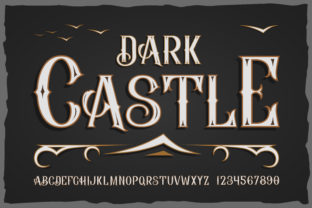 Print on Demand: Dark Castle Display Font By dsfractal