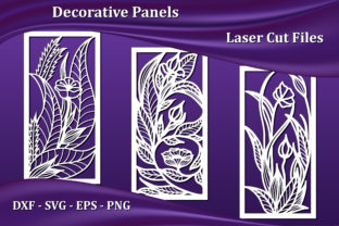 Decorative Panels, Laser CNC Cut Files Graphic Crafts By AmarylleArt