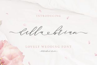 Print on Demand: Della Brian Script & Handwritten Font By letterhend