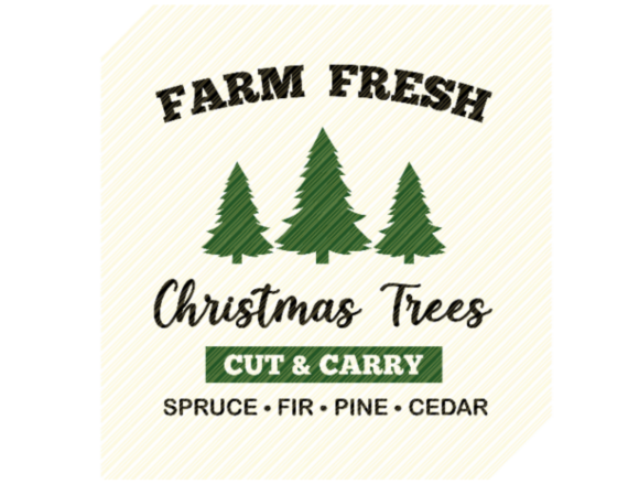 Print on Demand: Farm Fresh Christmas Trees Sign Graphic Gráfico Crafts Por SVGPlaceDesign