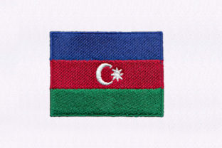 Flag of Azerbaijan Asia Embroidery Design By DigitEMB