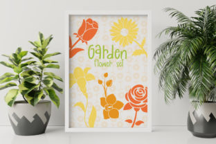 Garden Flower Set Graphic Illustrations By Firefly Designs