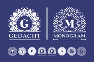 Print on Demand: Gedacht Monogram Decorative Font By Situjuh