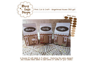Gingerbread House Printable Milk Cartons Graphic 3D Christmas By MarcyCoateDesigns