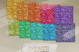 Print on Demand: Glitter Digital Paper. Printable Paper Graphic Backgrounds By Tiana Geo