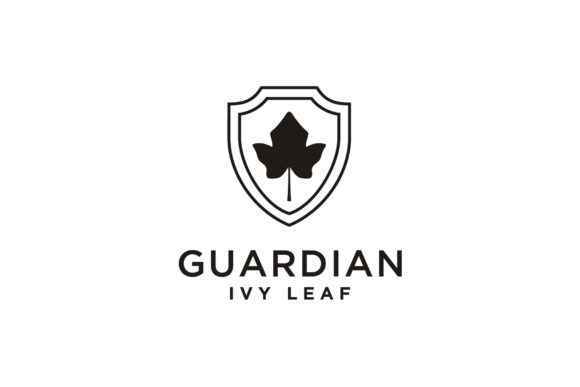 Print on Demand: Ivy Vines Leaf Plant Shield Protect Logo Graphic Logos By Enola99d