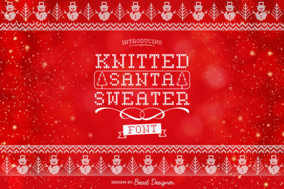 Print on Demand: Knitted Santa Sweater Decorative Font By Beast Designer