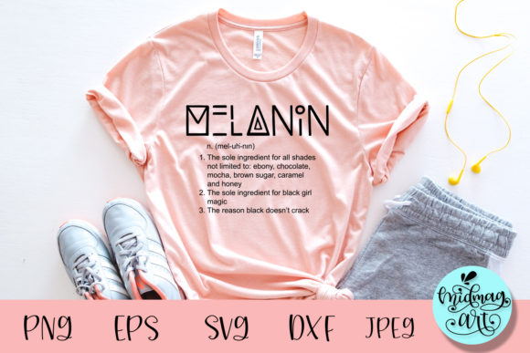 Melanin Definition Svg, Black Girl Svg Graphic Objects By MidmagArt