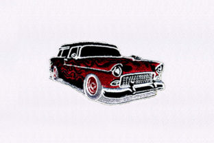 Motif Black Car Sports Embroidery Design By DigitEMB