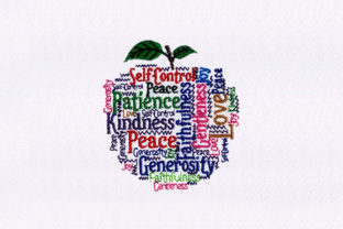 Motivational Apple Awareness Embroidery Design By DigitEMB
