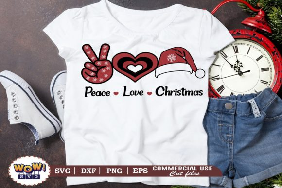 Print on Demand: Peace Love Christmas Graphic Illustrations By Wowsvgstudio