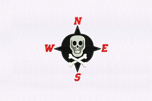 Pirate Compass Pirates Embroidery Design By DigitEMB