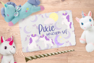 Pixie Unicorn Set Graphic Illustrations By Firefly Designs
