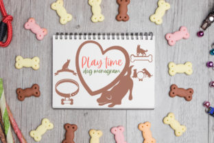 Playtime, Dog Monograms Graphic Crafts By Firefly Designs