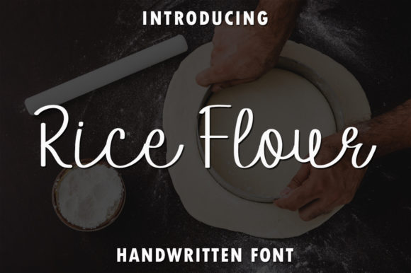 Print on Demand: Rice Flour Script & Handwritten Font By rangkaiaksara