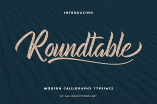 Print on Demand: Roundtable Script & Handwritten Font By CalligraphyFonts 1