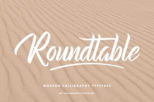 Print on Demand: Roundtable Script & Handwritten Font By CalligraphyFonts 2