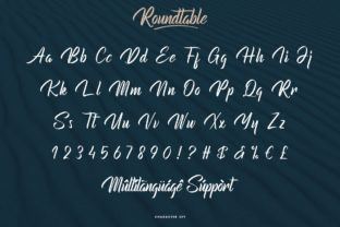 Print on Demand: Roundtable Script & Handwritten Font By CalligraphyFonts 5