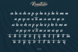 Print on Demand: Roundtable Script & Handwritten Font By CalligraphyFonts 7