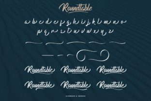 Print on Demand: Roundtable Script & Handwritten Font By CalligraphyFonts 9