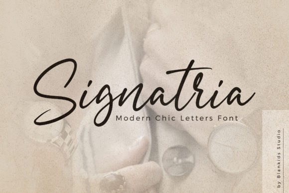 Print on Demand: Signatria Script & Handwritten Font By Blankids Studio