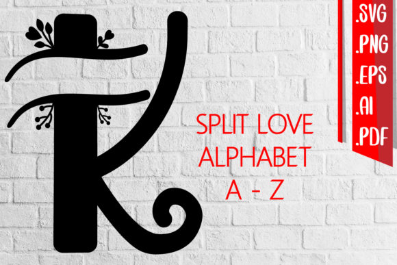 Split Love Alphabet a-Z Svg Eps Png Ai Graphic Crafts By assalwaassalwa