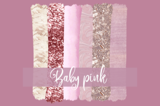 Print on Demand: Sublimation Baby Pink Brush Strokes Graphic Print Templates By inlovewithkats