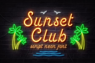 Print on Demand: Sunset Club Script & Handwritten Font By TypeFactory