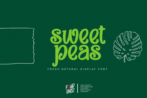 Print on Demand: Sweet Peas Display Font By Fourlines.design