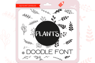 Print on Demand: Plants Dingbats Dingbats Font By WADLEN