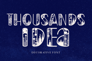 Print on Demand: Thousands Idea Decorative Font By Lian-7NTypes