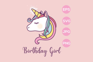 Print on Demand: Unicorn Birthday Girl Sublimation Graphic Crafts By AdMaioraDesign
