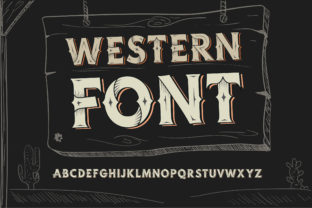Print on Demand: Western Blackletter Font By dsfractal