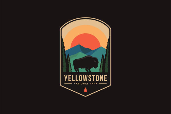 Yellowstone National Park Logo Badge Graphic Logos By DOMSTOCK