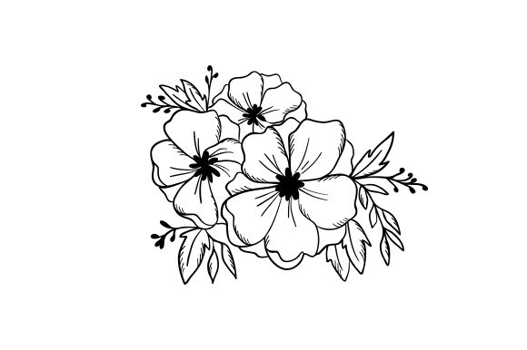 Line Art Flowers Designs & Zeichnungen Plotterdatei von Creative Fabrica Crafts