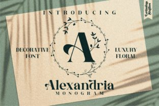 Print on Demand: Alexandria Monogram Decorative Font By letterenastudios