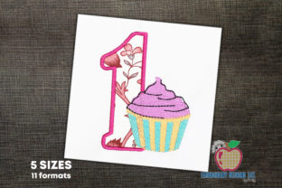 An Ice Cream Cup with One Dessert & Sweets Embroidery Design By embroiderydesigns101