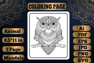 Print on Demand: Animal Mandala Coloring Page17 for Adult Graphic Coloring Pages & Books By KDP_Interior_101