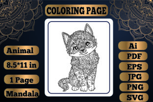 Print on Demand: Animal Mandala Coloring Page18 for Adult Graphic Coloring Pages & Books Adults By KDP_Interior_101