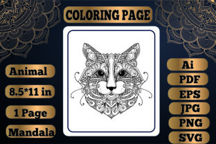 Print on Demand: Animal Mandala Coloring Page19 for Adult Graphic Coloring Pages & Books By KDP_Interior_101
