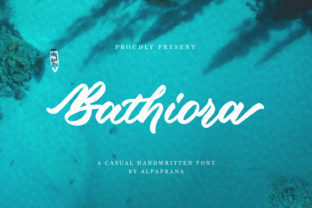 Print on Demand: Bathiora Script & Handwritten Font By alpapranastudio
