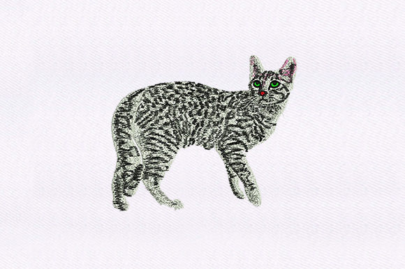 Black & White Cat Design Cats Embroidery Design By DigitEMB