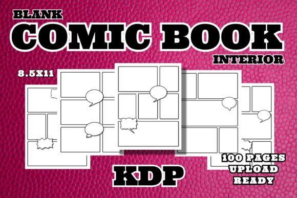 Blank Comic Book Interior Graphic KDP Interiors By .99 Cent Digital Products
