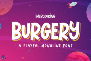 Print on Demand: Burgery Display Font By Arterfak Project