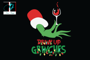 Print on Demand: Christmas Drink Up Grinches, Win Lover Graphic Print Templates By Hana Design