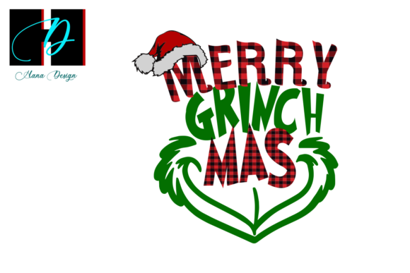Print on Demand: Christmas Grinch Buffalo Plaid Vector Graphic Print Templates By Hana Design