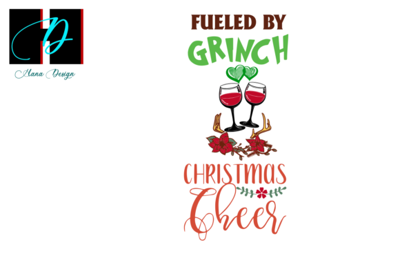 Print on Demand: Christmas Grinch Funny Drinking Vector Graphic Print Templates By Hana Design