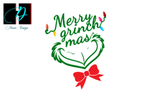 Print on Demand: Christmas Grinch Vector Clipart Graphic Print Templates By Hana Design