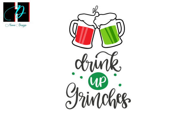 Print on Demand: Christmas Grinches, Drinking Team Svg Graphic Print Templates By Hana Design